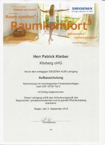Pilzkopfverriegelung - Zertifikat Schulung Siegenia